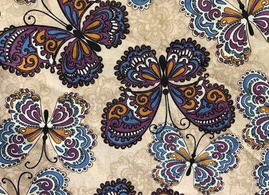 Tan and Purple Butterflies