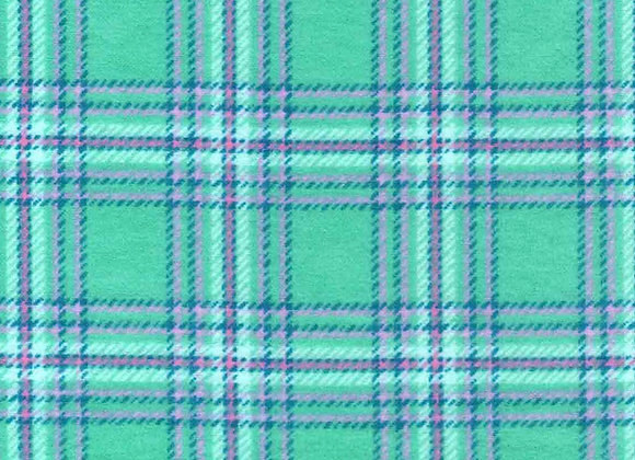 Aqua & pink plaid (snuggle flannel)