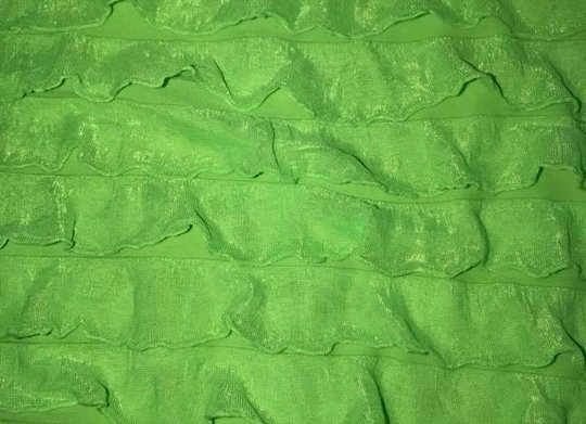 Lime green ruffle knit