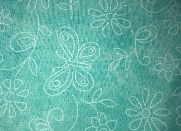 Aqua sketch bf & flowers
