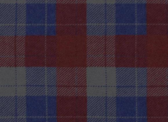 Maroon, blue, & gray plaid (snuggle flannel)
