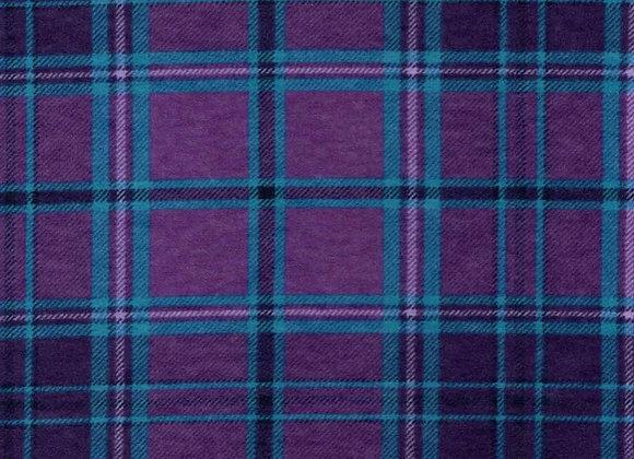Purple & turquoise plaid (snuggle flannel)