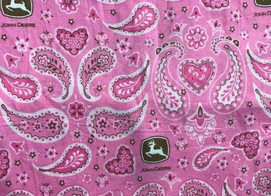 Pink paisley John Deere