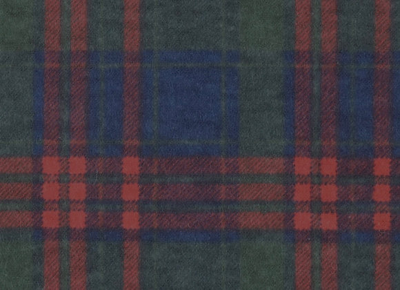 Red, navy & green plaid (snuggle flannel)