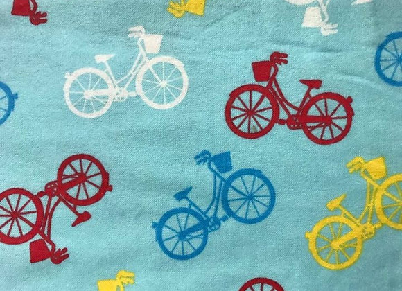 Light blue bikes  (snuggle flannel)