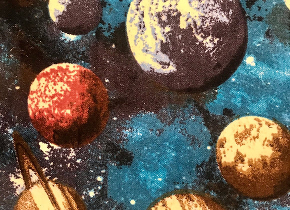 Teal planets (snuggle flannel)