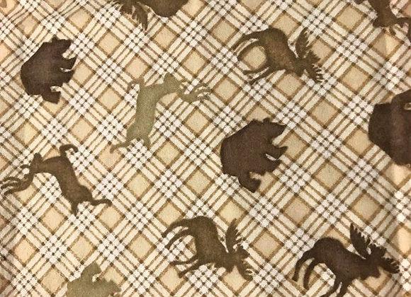 Moose & Bears plaid   (snuggle flannel)