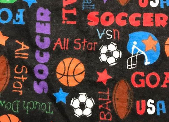 Soccer All Star  (snuggle flannel)