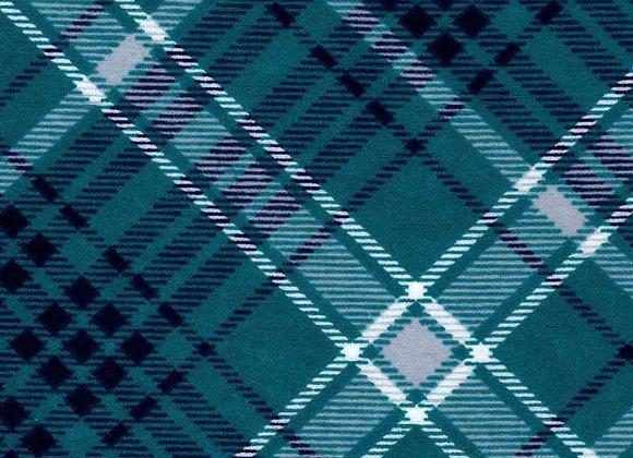 Teal road plaid (snuggle flannel)