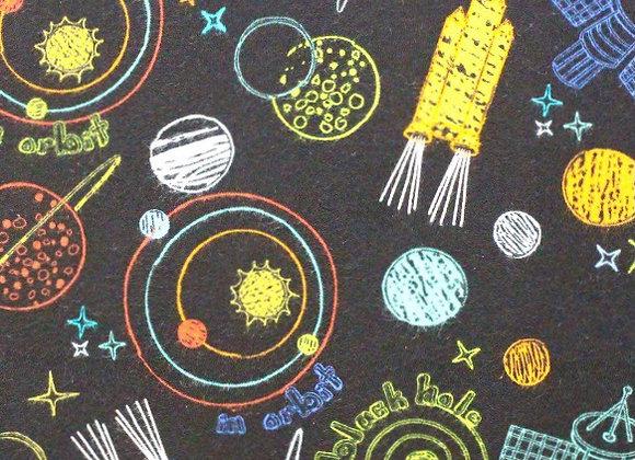 Chalk rocket ship (snuggle flannel)