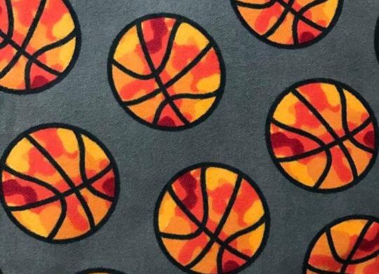 Gray Basketball (snuggle flannel)