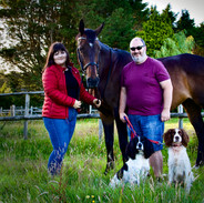 Sant and Holly Family shot