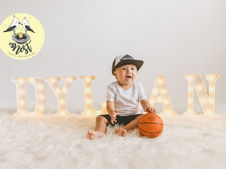 Baby Dylan's 1st Birthday Shoot | In-Studio