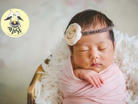 Stella Kalei Newborn Shoot | In-Studio