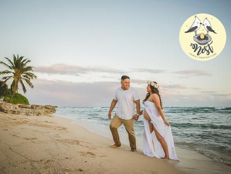 Krystal + Jordan Maternity Shoot | 12.19.20 | Barbers Point Beach