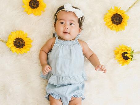 Baby Stella Kalei's 3 Month Shoot | Milk Bath | In-Studio