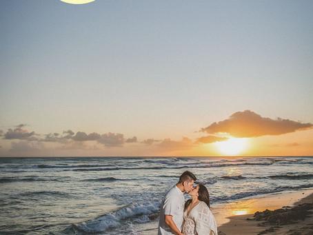 Nicole + Tyson Maternity Shoot | 02.28.20 | Barbers Point Beach