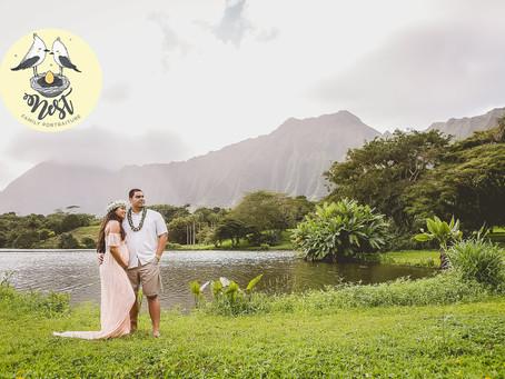 Jazmin + Chad Maternity Shoot | 01.14.20 | Ho'omaluhia Botanical Garden