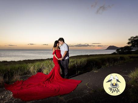 Yee Family Maternity Shoot | 07.24.19 | Kahe Point Beach