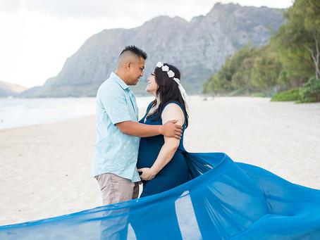 Shantel + Rowel Maternity Shoot | 08.26.19 | Waimanalo Bay Beach
