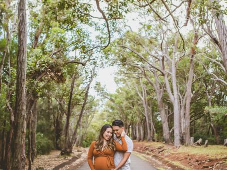 Shannon + Ryan Maternity Shoot | Essential Worker Giveaway WINNER | Aiea Loop Trail