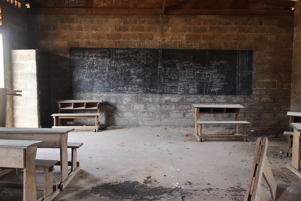 An abandoned school in Central African Republic ©UNICECAR/2014/Kim