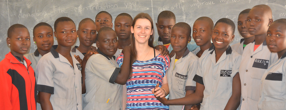 Founder Kelsey with students of Saint Andrew's of Ngong
