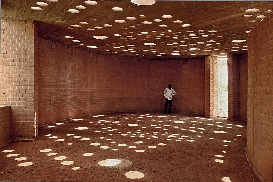 Kere in one of his buildings in Burkina Faso