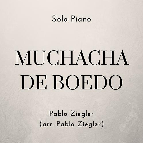 Muchacha de Boedo (Ziegler) - Solo Piano