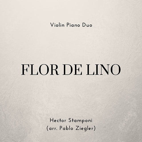 Flor de Lino (Stamponi) - Violin Piano Duo