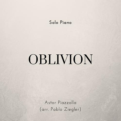 Oblivion (Piazzolla) - Solo Piano