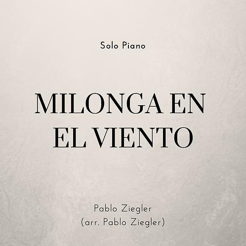 Milonga en el Viento (Ziegler) - Solo Piano