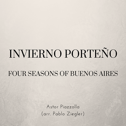 Invierno Porteño / Winter of Buenos Aires (Piazzolla) - Two Pianos