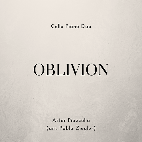 Oblivion (Piazzolla) - Cello Piano Duo