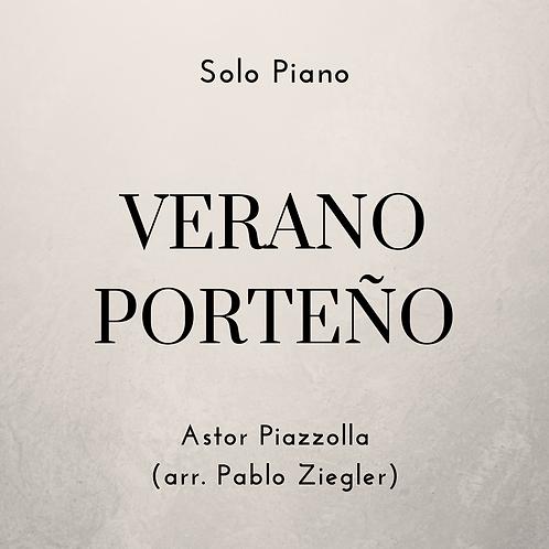 Verano Porteño (Piazzolla) - Solo Piano