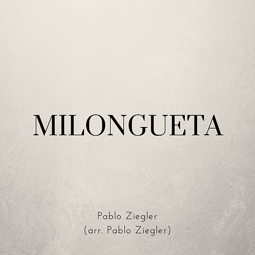 Milongueta (Ziegler) - Two Pianos