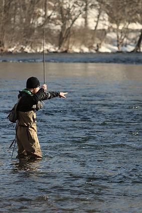 Andrew Allendar guiding on the LIttle Juniata River.