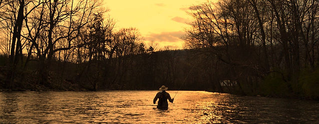 A calm evening in May fly fishing on the Little Juniata River.