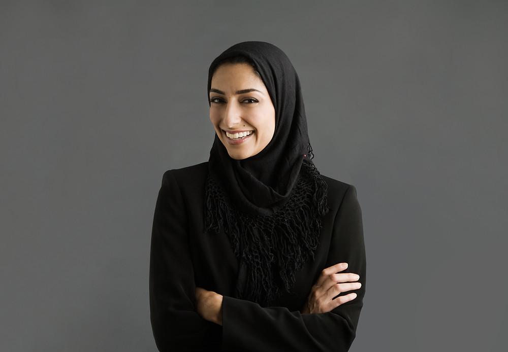 Symbolbild Frau mit Kopftuch