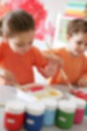 preschool children painting - Preschool | Ashburn VA | Ashburn Village Country Day School AVCDS