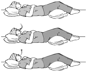Abdominal Breathing while lying on the floor