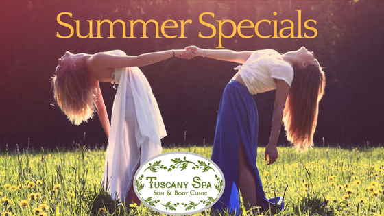 Friends enjoying Summer special at Tuscany Spa