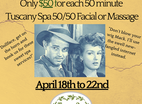 Fantastic $50 Spa Specials to help Relax and Restore