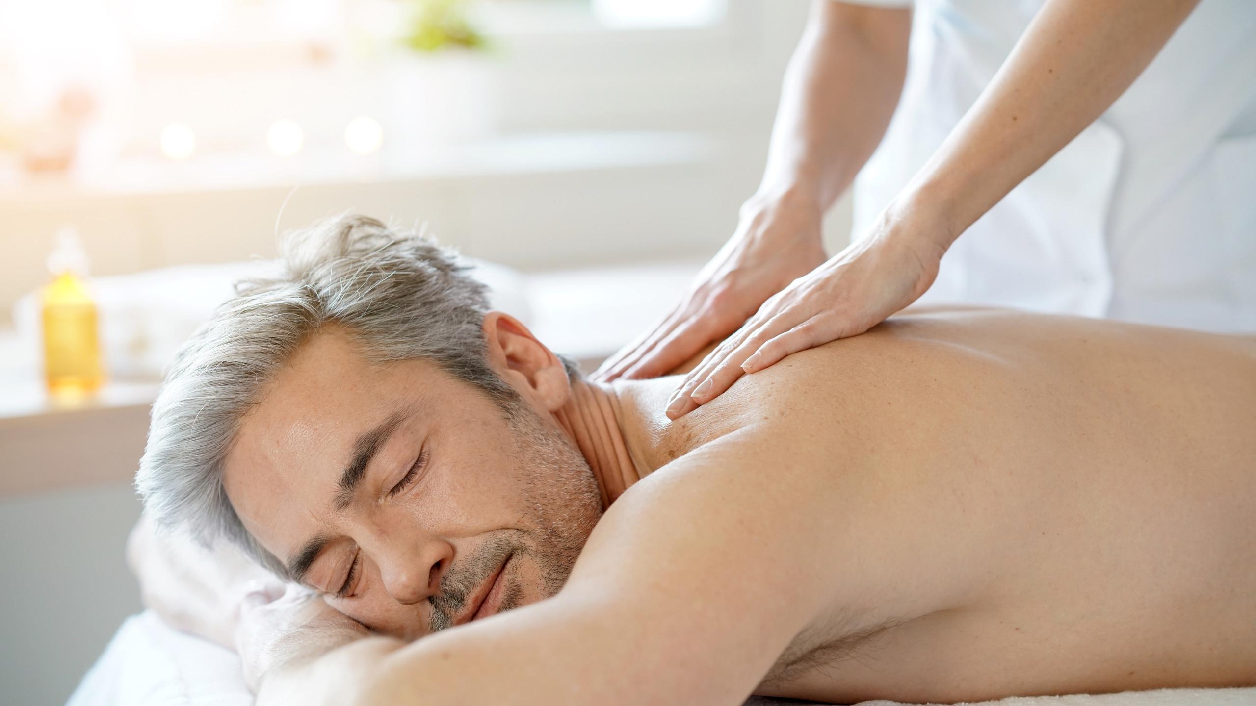 Restorative massage for dad