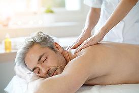 Restorative massage on male client