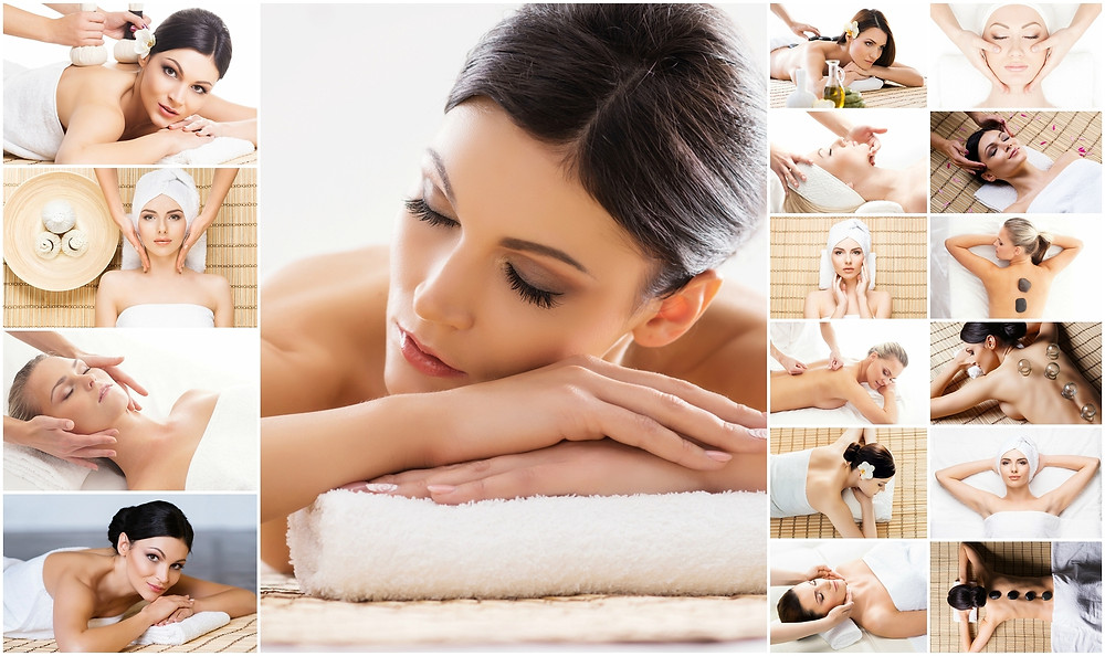 Massage collage - cupping, hot stone, deep tissue massage
