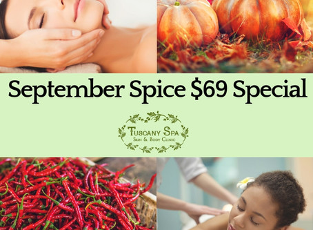 $69 September Spice Special - Facial and Massage