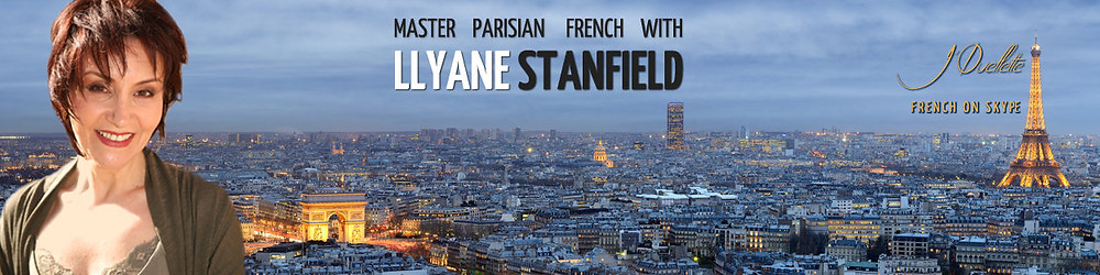 Picture of Llyane Stanfield in front of daytime Paris skyline