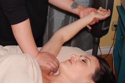 Shoulder stretch massage