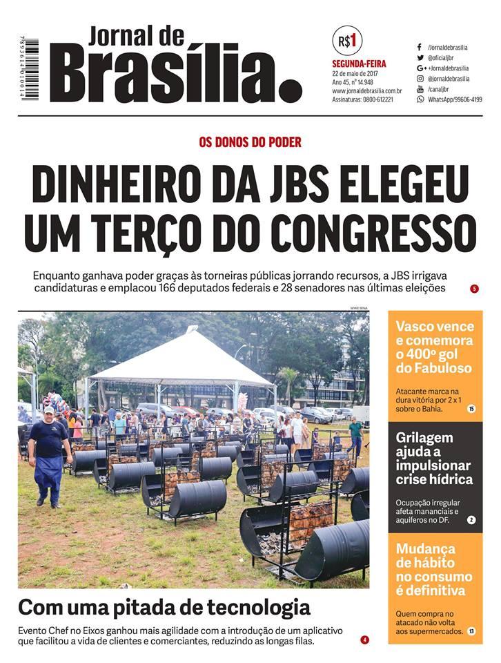 Capa do Jornal de Brasília